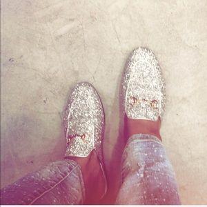 Gucci Shoes | Gucci Princetown Glitter